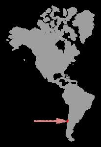 Isla Grande de Chiloé en el continente americano