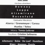 Invitación MAM 2000 - reverso