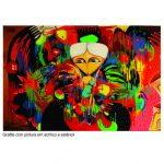 Paulo Govêa - graffiti con pintura en acrílico y estencil