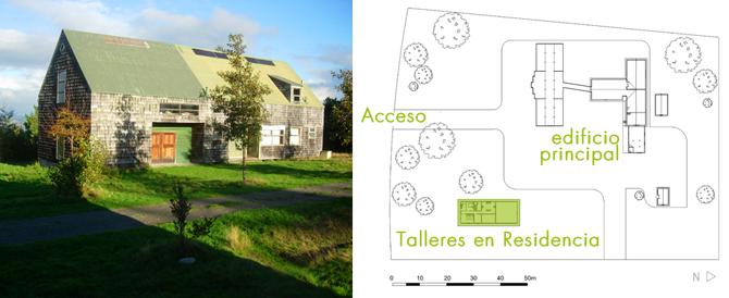 Los Talleres en Residencia - imagen y plano de localización