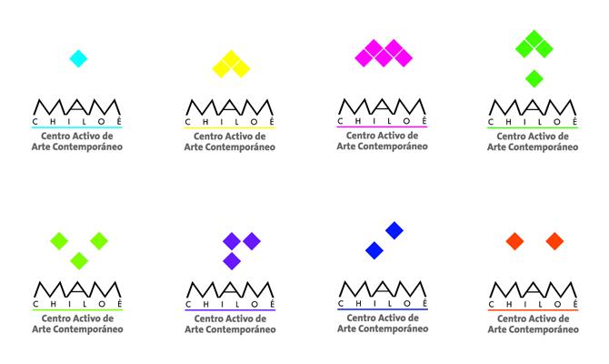 Variaciones del logotipo MAM Chiloé