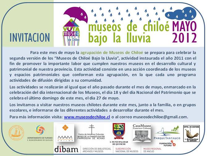 Invitación Museos de Chiloé Bajo la Lluvia 2012