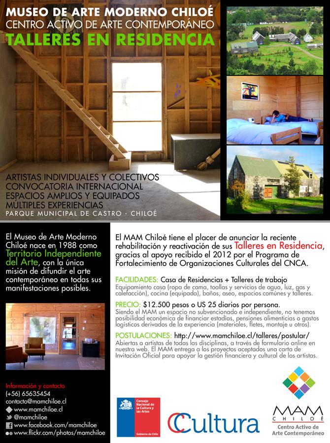 Folleto - Reactivación Talleres en Residencia 2012